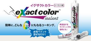 イグザクトカラー:どんな色にも着色可能なシール材