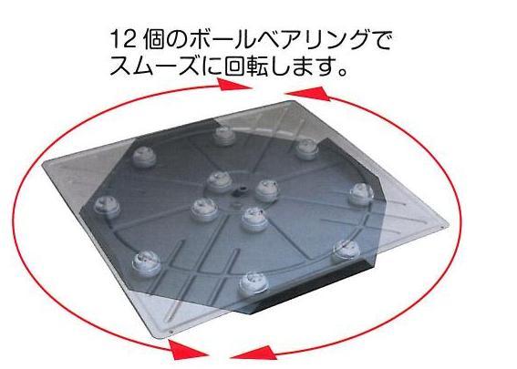 12個のボールベアリングでスムーズに回転します