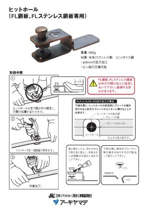 鋼板の穴開け。簡単加工。